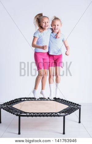 Jumping On Trampoline