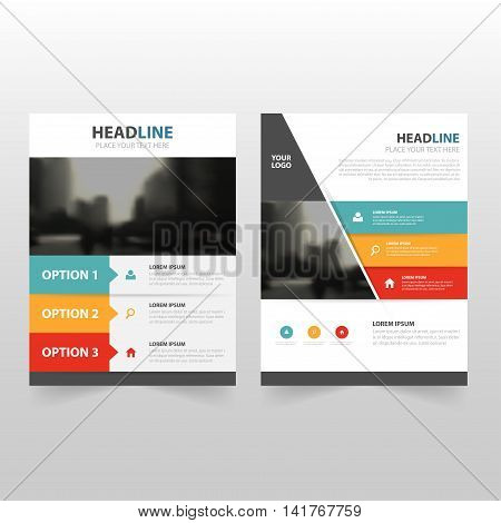Colorful infographic Vector annual report Leaflet Brochure Flyer template design book cover layout design abstract business presentation template a4 size design