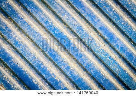 Grungy blue metal window roller blinds background
