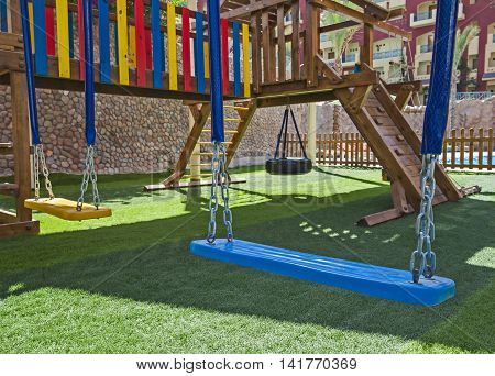 Childrens Outdoor Play Area With Swings