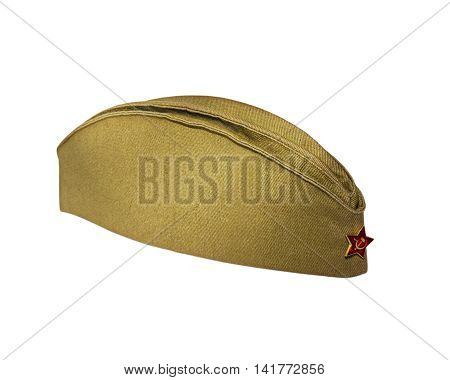 Soldiers of the Russian military garrison cap