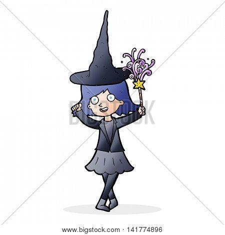 cartoon hapy witch