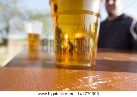 Detail Of Beer On The Table