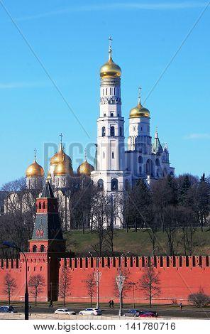 Moscow Kremlin. UNESCO World Heritage Site. Color photo