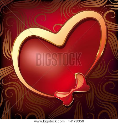 Valentine Heart With A Bow