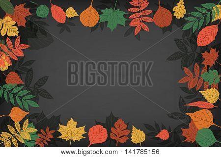 School Board In A Frame Of Leaves