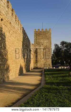 view of the middle ages wall that surround Evora, portugal