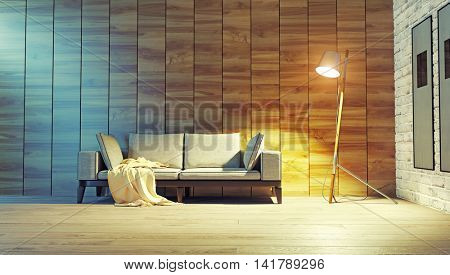 modern interior decoration. 3D concept rendering.
