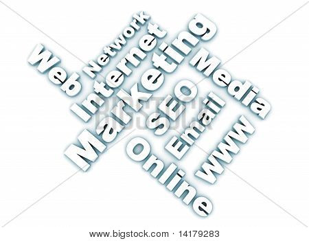 Internet Marketing Related Words - White