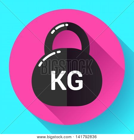 Weight Icon in trendy flat style. Sport fitness app icon