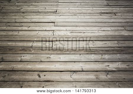 Uncolored Old Dark Gray Wooden Floor