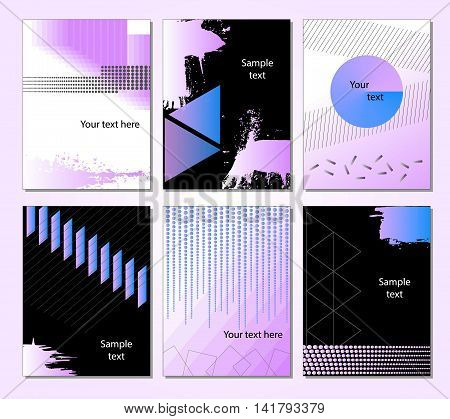 Abstract Background. Geometric shapes and frames for presentation, annual reports, flyers, brochures, leaflets, posters, business cards and document cover pages design. Title sheet template