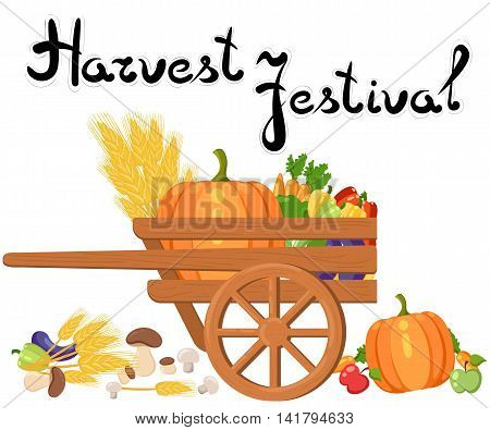Harvest Festival. Harvest Fruits And Vegetables. Autumn Collection Of Elements For Your Design.