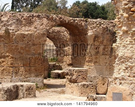 Ruins Anthony Pliya's term in Carthage in the territory of modern Tunisia