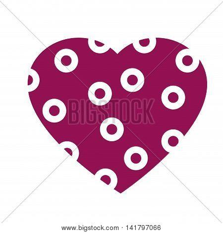 heart love romantic , isolated flat icon design