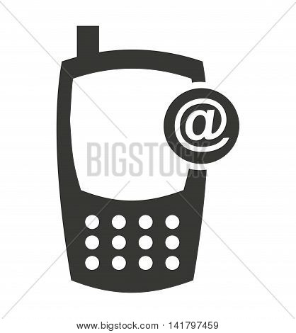 cellphone silhouette isolated icon vector illustration design
