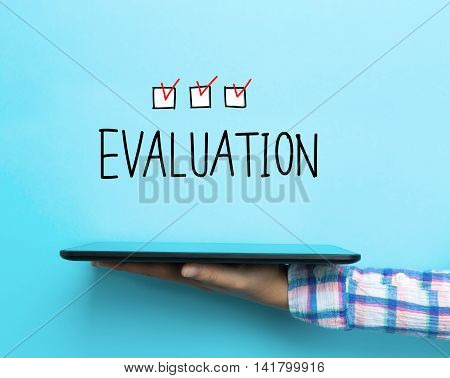 Evaluation Concept With A Tablet