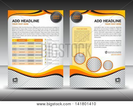 Yellow business brochure flyer design layout template in A4 size, poster, leaflet, ads, newsletter, cover, annual report, magazine ads, catalog,book