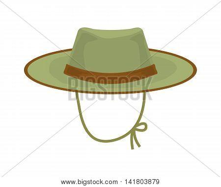 Hunter hat. Hunting equipment vector illustration. hat icon