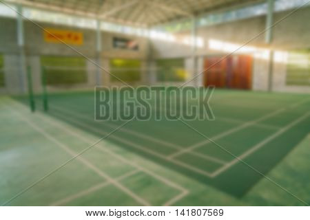 Abstract blur Badminton court