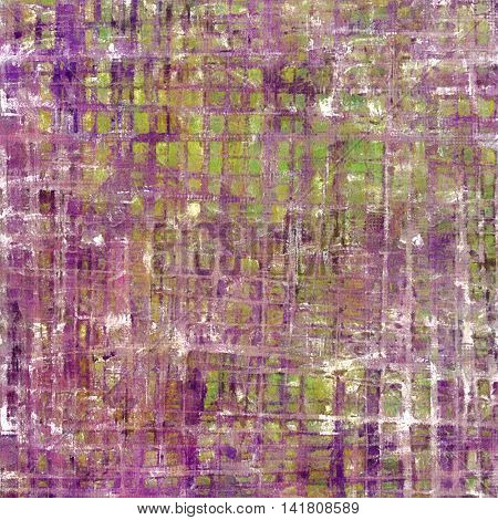 Old grunge vintage background or shabby texture with different color patterns: yellow (beige); brown; green; purple (violet); white; pink