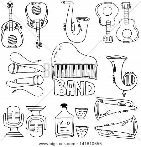 Element music doodles vector art stock collection
