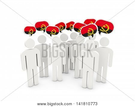 People With Flag Of Angola