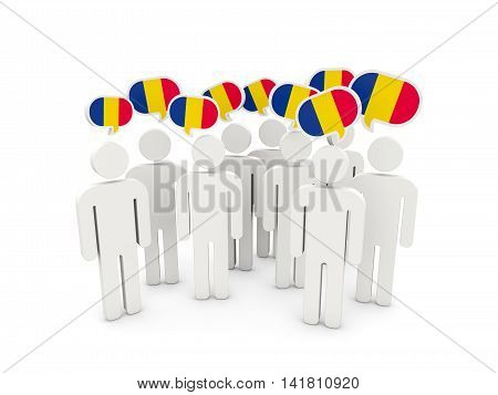 People With Flag Of Chad