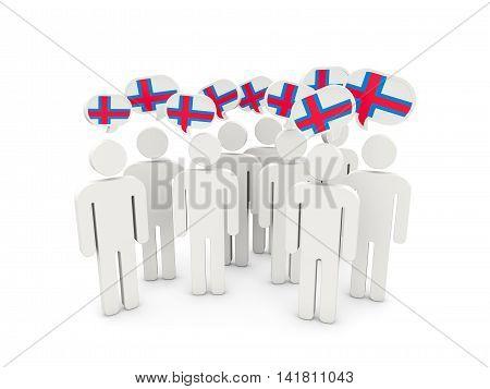 People With Flag Of Faroe Islands