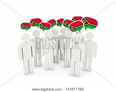 People With Flag Of Vanuatu