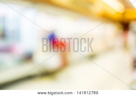 Supermarket Store Blur Background With Bokeh,defocused Light In Store