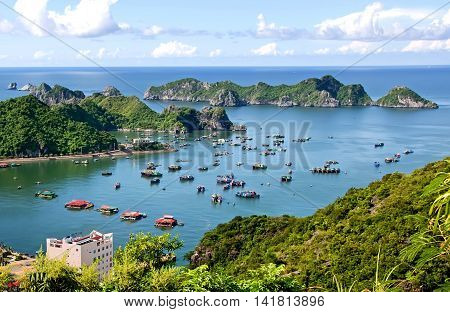 Cat Ba bay. It has been recognized as a UNESCO biosphere reserve in the world