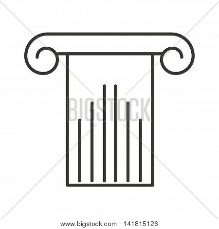 column structure silhouette icon vector isolated design