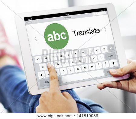 Digital Translate Application Online Concept