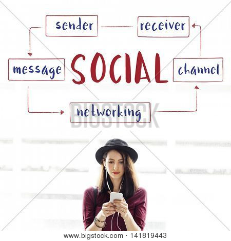 Social Networking Connection Concept