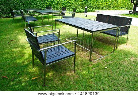 Garden Patio with table chairs, garden outdoor