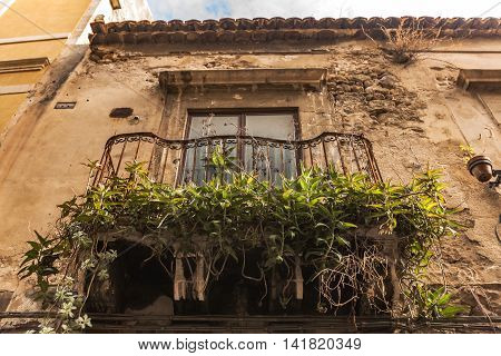 Historical Buildings And Terraces In Syracuse, Sicily