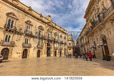 Historical Structures In Syracuse, Sicily, Italy