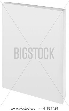 Empty White Paper Back Book Cover Cutout