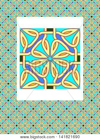 Seamless pattern from traditional celtic an ornament - a vector