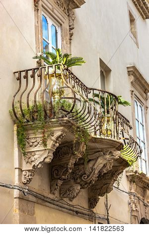 A Historical Building In Syracuse, Sicily, Italy