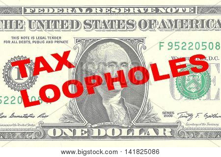 Tax Loopholes Concept