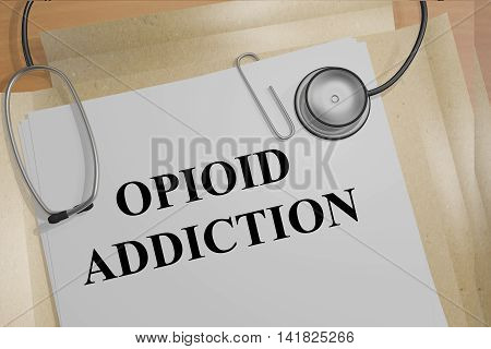 Opioid Addiction Medical Concept