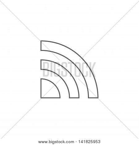 Vector illustration of wi-fi icon on white background. Simple black symbol. Eps10 format vector.