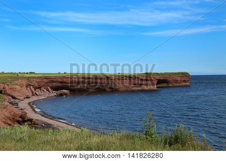 Beautiful landscape in Gaspesie, Quebec, Canada