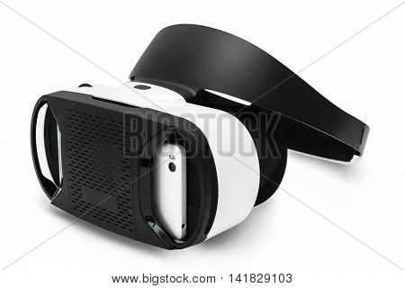 Virtual reality glasses, isolated on white. VR goggles, modern technologies concept