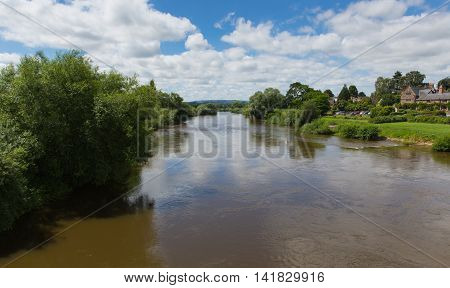 River Wye running through Ross-on-Wye Herefordshire England uk a small market town located on the River Wye and on the edge of the Forest of Dean