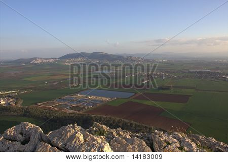 Jezreel Valley in Lower Galilee, Israel