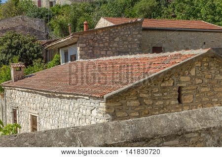 Traditional Stone Architecture In The Mountain Village Of Lofou, Cyprus