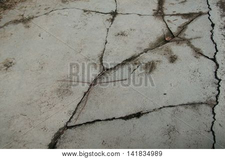 A Unique Cracked Flooring, old cracked floor background